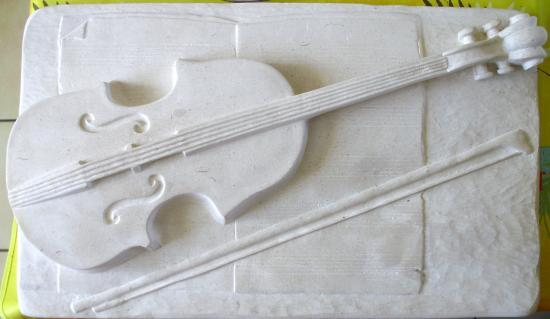 Sculpture du violon (non peint)